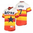 Men's #7 Craig Biggio Houston Astros Cooperstown Rainbow Jersey Stitched