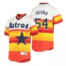 Men's #54 Roberto Osuna Houston Astros Cooperstown Rainbow Jersey Stitched
