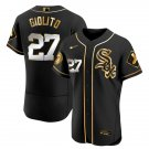 Men's Chicago White Sox #27 Lucas Giolito Black Golden Jersey All Stitched