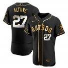 Men's Houston Astros #27 Jose Altuve Black Golden Jersey All Stitched