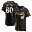 Men's Atlanta Braves #60 Dallas Keuchel Black Golden Jersey All Stitched