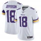 Men's #18 Justin Jefferson Minnesota Vikings White Vapor Limited Football Jersey Stitched