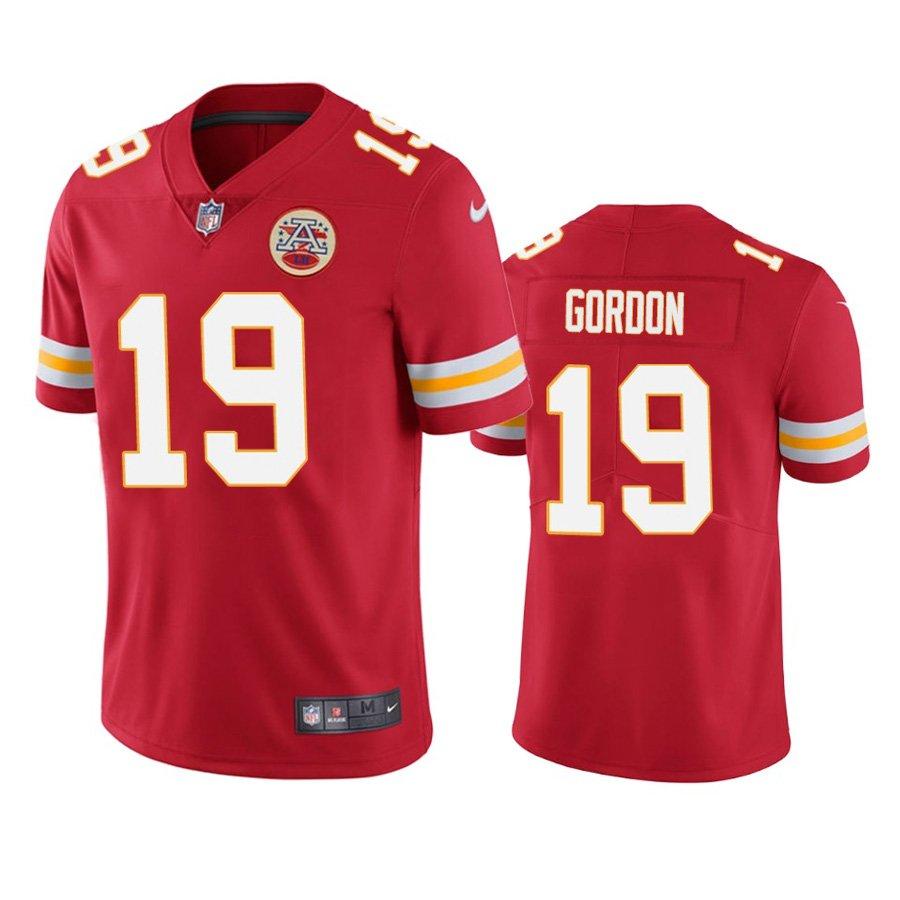 Men's #19 Josh Gordon Kansas City Chiefs Red Vapor Limited Football Jersey Stitched