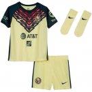 Kid's/Toddler Club America Home Soccer Kit 2021/22 - Lemon Chiffon Armory Navy
