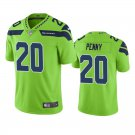 Men's #20 Rashaad Penny Seattle Seahawks Neon Green Vapor Limited Football Jersey Stitched