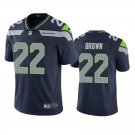 Men's #22 Tre Brown Seattle Seahawks Navy Vapor Limited Football Jersey Stitched