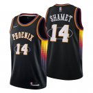 Men's #14 Landry Shamet Phoenix Suns Black Mixtape 2021-22 Diamond Jersey 75th Anniversary