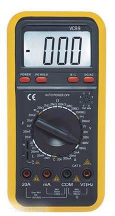 Multimeter w/Capacitance,Temperature, Frequency VC99