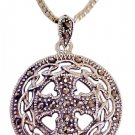 Large Cross Necklace with Marcasites - 1216-75