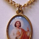 Saint Jude Gold Plated Medal Necklace
