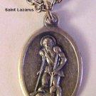 Saint Lazarus Medal Necklace