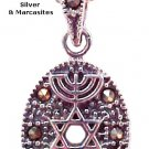 Messianic Necklace with Marcasites - 1217-34