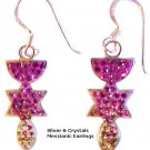 Messianic Silver & Crystals Earrings - 1217-45E