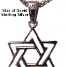 Entwined Small Silver Star of David - 1215-48