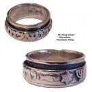 Jerusalem Star Fish & Menorah Messianic Silver Ring - SIZE 10