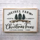 ASgift03 - Personalized Christmas Tree Farm   Christmas Sign   3d Laser Cut   Farmhouse Style