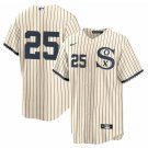 Chicago White Sox #25 Andrew Vaughn Field of Dreams Throwback Limited Jersey Mens/Youth Stitched