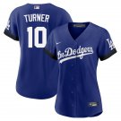 Justin Turner Los Angeles Dodgers City Connect Royal Womens Jersey Stitched LosDodgers