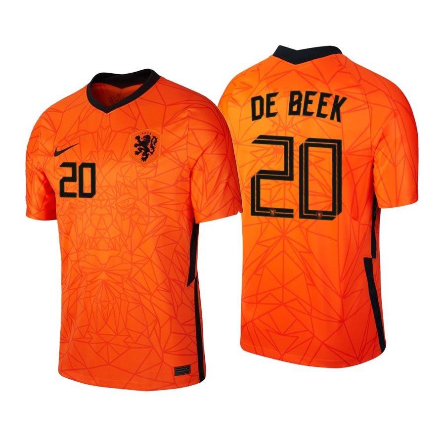 Netherlands National Team Donny Van De Beek Orange Home Mens/Kids Soccer Jersey Shirts 2021/22