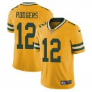 #12 Aaron Rodgers Green Bay Packers Yellow Limited Mens Football Jersey Stitched