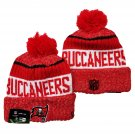 Tampa Bay Buccaneers Football Winter Cap Sport Cuffed Knit Hat with Pom - Red