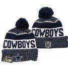 Dallas Cowboys Football Winter Cap Sport Cuffed Knit Hat with Pom - Navy