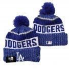 Los Angeles Dodgers Winter Cap Baseball Sport Cuffed Knit Hat with Pom - Blue