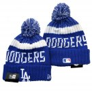 Los Angeles Dodgers Winter Cap Blue Baseball Sport Cuffed Knit Hat with Pom