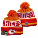 Kansas City Chiefs Football Winter Cap Sport Cuffed Knit Hat with Pom - Red/Yellow