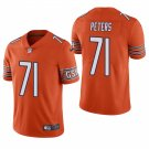 Chicago Bears #71 Jason Peters Orange Vapor Limited Football Jersey for Men Stitched