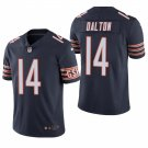 Chicago Bears #14 Andy Dalton Navy Vapor Limited Football Jersey for Men Stitched