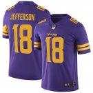 Minnesota Vikings #18 Justin Jefferson Purple Color Rush Football Jersey for Men Stitched