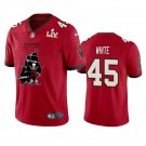 Buccaneers #45 Devin White Super Bowl LV Champions Team Logo Football Jersey for Men Red