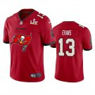 Buccaneers #13 Mike Evans Super Bowl LV Champions Primary Logo Football Jersey for Men Red