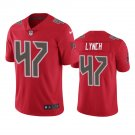 Tampa Bay Buccaneers #74 John Lynch Red Color Rush Limited Football Jersey for Men Stitched