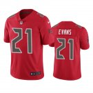 Tampa Bay Buccaneers #21 Justin Evans Red Color Rush Limited Football Jersey for Men Stitched