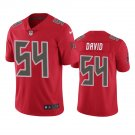 Tampa Bay Buccaneers #54 Lavonte David Red Color Rush Limited Football Jersey for Men Stitched