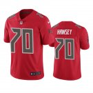 Tampa Bay Buccaneers #70 Robert Hainsey Red Color Rush Limited Football Jersey for Men Stitched