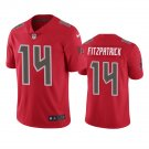 Tampa Bay Buccaneers #14 Ryan Fitzpatrick Red Color Rush Limited Football Jersey for Men Stitched