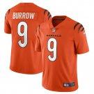 Cincinnati Bengals #9 Joe Burrow 2021 Orange Vapor Limited Football Jersey for Men Stitched
