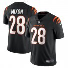 Cincinnati Bengals #28 Joe Mixon 2021 Black Vapor Limited Football Jersey for Men Stitched