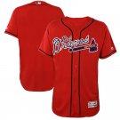 Atlanta Braves Los Bravos Red Flex Base Majestic Jersey for Men Stitched