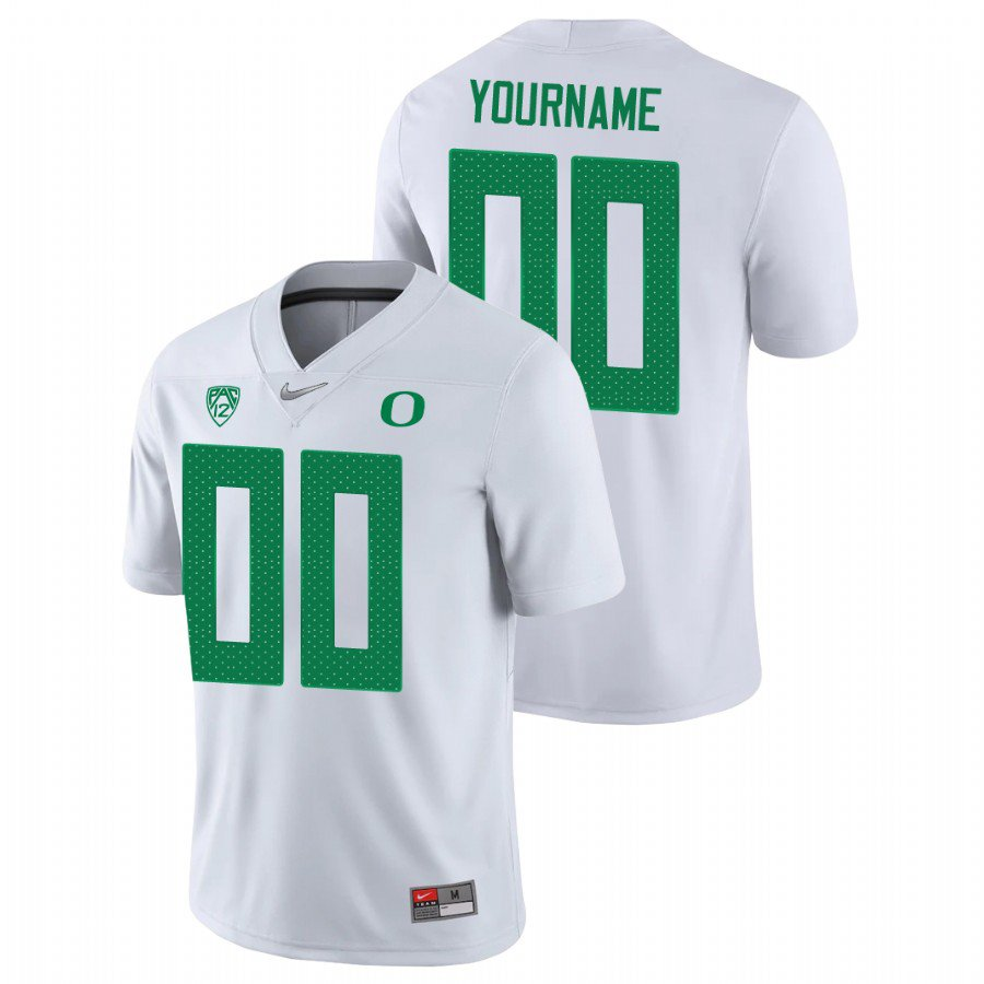 Custom Oregon Ducks White Game College Football Stitched Jersey For Men