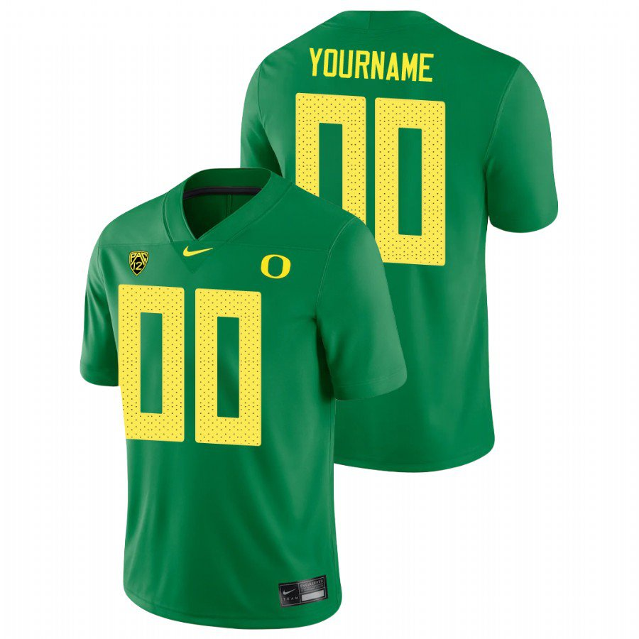 Custom Oregon Ducks Green Game College Football Stitched Jersey For Men