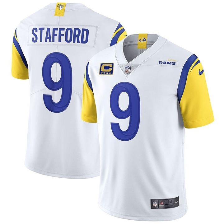 Matthew Stafford Los Angeles Rams White Vapor Limited Stitched Jersey For Men