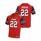Ty Jordan Utah Utes Red NCAA College Football Stitched Jersey For Men
