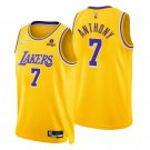 Carmelo Anthony Los Angeles Lakers Gold Icon 75th Anniversary Diamond Stitched Jersey For Men