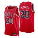 Adam Mokoka Chicago Bulls Red Icon 75th Anniversary Diamond Stitched Jersey 2021-22 For Men