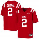 Matt Corral Ole Miss Rebels Red College Football Stitched Jersey For Men