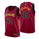 Denzel Valentine Cleveland Cavaliers Wine Icon 75th Anniversary Diamond Stitched Jersey For Men